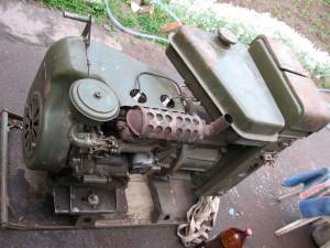 Фото: Двигатель УД-2 на самодельный минитрактор