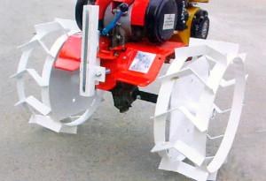 Замена колес на мотоблоке на грунтозацепы