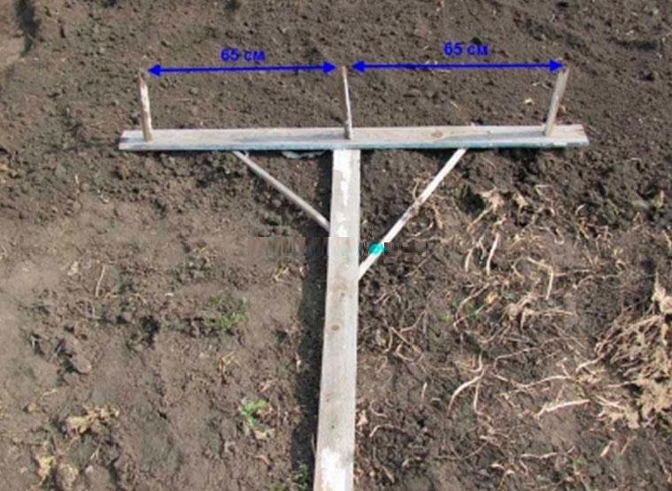 Фото: Самодельный маркер для разметки борозд