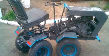 Фото: Минитрактор самодельный с ломающейся рамой