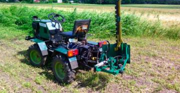Фото: Самодельная косилка для мини-трактора