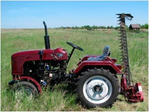 Фото: Косилка сегментного типа для мини-трактора