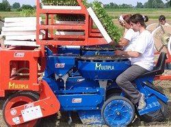 Фото: Машина на поле для посадки рассады
