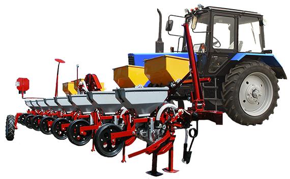 Фото: Сеялка с трактором