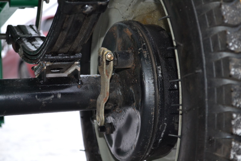 Автомобильные тормоза на прицеп мотоблока
